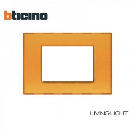 PLACCA BTICINO LIGHT N4803AJ GEL ARANCIO