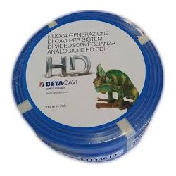 CAVO BETA CAVI COASSIALE DURAFLAM LSZH BLUE HD4019 100mt